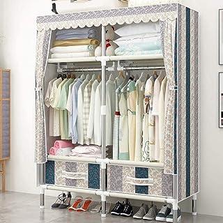 HWG Armoire De Rangement Garde-Robe Portative De Vêtements Penderie Tissu avec 8 étagères, 4 Tiroirs, Facile à Assembler,1M-E