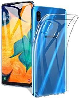 Plain Flexible Transparent Back Clear Cover Case for Samsung Galaxy A10S by Nice.Store.UAE