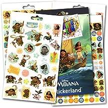 Disney Moana Stickers - Over 295 Stickers Bundled with Specialty Separately Licensed GWW Reward Sticker