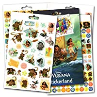 Disney Moana Stickers - Over 295 Stickers Bundled with Specialty Separately Licenced GWW Reward Sticker
