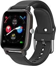 """Smart Watch for iPhone Android, LCW Fitness Tracker Health Watch w/Heart Rate Blood Oxygen Monitor, Body Temperature, 1.4""""..."""