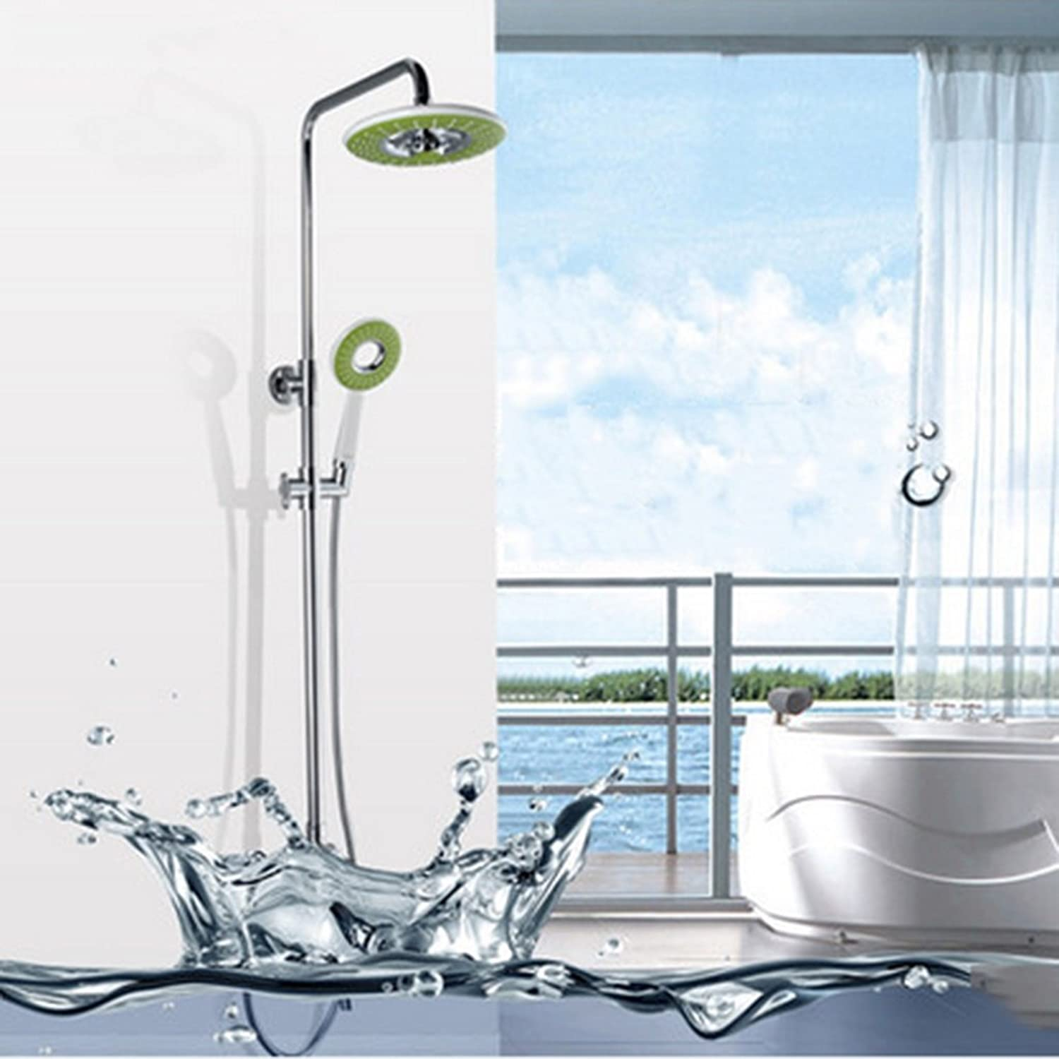 Cqq Bathroom shower Brass bathroom Shower set bathroom Simple pressurized nozzle can be lifted faucet shower Device