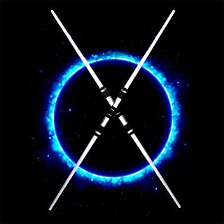 4PCS Flashing Lightsaber Double Sword Lightstick Cosplay Two-In-One Induction Color Changing for Children Baby Gift