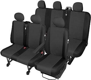 1 X van Cubierta de asiento protector para Opel Vivaro Solo Negro