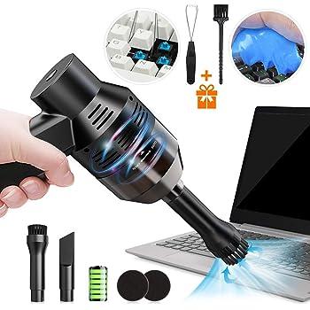 キーボード掃除 PCキーボード掃除機 卓上クリーナー ハンディクリーナー エアダスター ミニクリーナー ミニ掃除機 集塵装置 掃除 強力吸引 OA掃除機 USB充電式 コードレス 軽量 乾湿両用 2020アップグレード 日本語説明書付き
