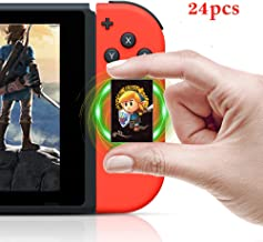 Zelda Series Breath of The Wild/Link's Awakening NFC Tags Game Cards - 24pcs Mini Cards with Crystal Case