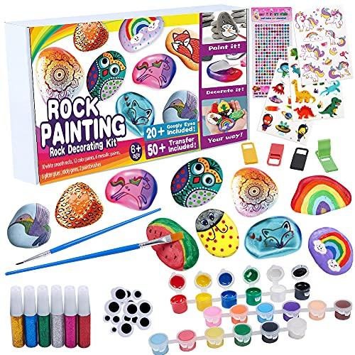 Tacobear Piedras Pintar Juegos para Niños Manualidades DIY Kit Juguetes de Pintura Creativo Regalo Manualidades para Niño Niña de 3 4 5 6 7 8 9 10 años