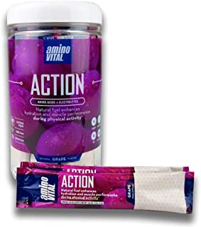 Sponsored Ad - Amino VITAL Action- BCAA Amino Acids Pre Workout Packets with Electrolytes for Energy | No Caffeine, Keto, ...