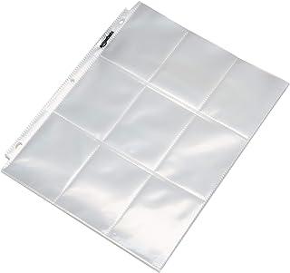 AmazonBasics 9 Sleeve Card Protectors Binder Sheet - 25-Pack