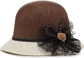SHENLIJUAN Spring and Summer Korean hat Visor Sun hat (Color : Coffee, Size : M56-58cm)