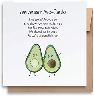 AvoCardo Anniversary Card with Envelope, Funny Anniversary Card Humorous Anniversary Card Anniversary Card For Him Anniver...