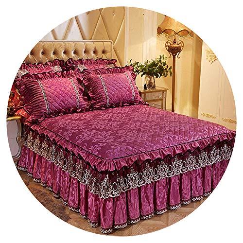 Small-shop Bedding Set Juego de Ropa de Cama de 160 x 200 cm con Forro Polar Acolchado, Colcha de Cama tamaño Individual, Queen, King, cobertor de Cama, Colcha de 4, 150 x 200 cm, 5 Unidades
