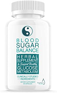 Blood Sugar Balance Support Supplement, Blood Sugar Herbal Advanced Formula Pills Capsules - Supports Diabetic High Blood ...