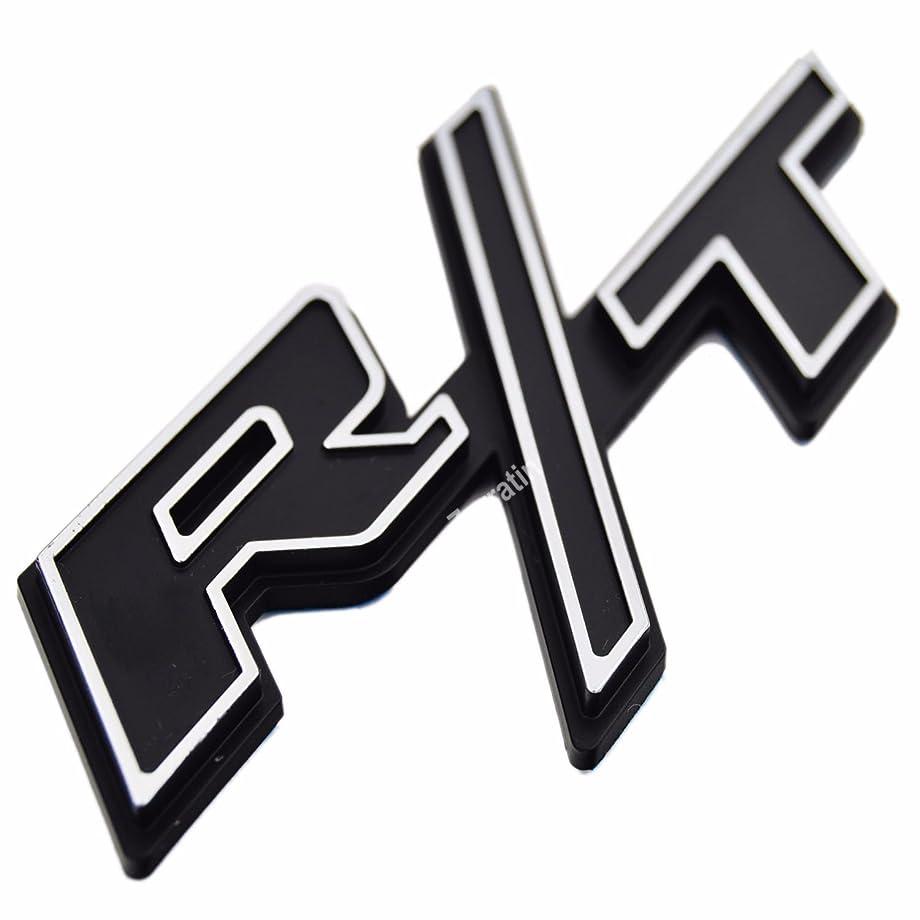 zorratin Special Chrome Trim Matt Black R/T RT Side Fender Trunk Emblem Badge w/Sticker for Dodge Challenger Charger Avenger SRT