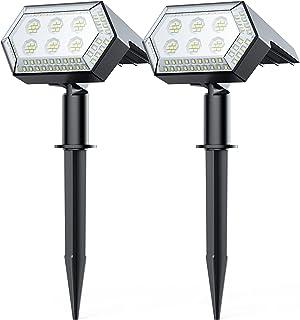 108 LED Spot Solaire Extérieur, HOTIME Lampe Solaire Etanche avec 4 Modes Projecteur Solaire Réglable avec Panneau Solaire...