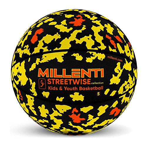Amazing Deal Millenti Youth Basketball Size 5 - Yellow Basketball Ball for Kids, Street-Smart 27.5 O...