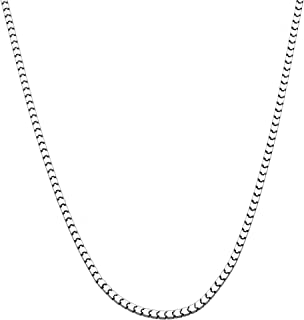 MiaBella 925 Sterling Silver Italian 2.2mm Diamond-Cut Venetian Mirror Box Chain Necklace 18, 24, or 30 inch