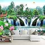 XHXI Mural El sofá en la sala de estar Fondo de TV Murales de papel de pared 3D Paisaje chino sin co Pared Pintado Papel tapiz 3D Decoración dormitorio Fotomural sala sofá pared mural-430cm×300cm