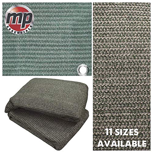 MP Essentials – Carpa de suelo tejida resistente a la intemperie y a la putrefacción, color verde y gris
