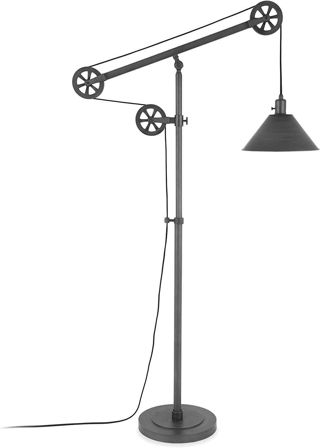 Henn&Hart Modern Industrial Pulley System Floor Lamp $100  Coupon