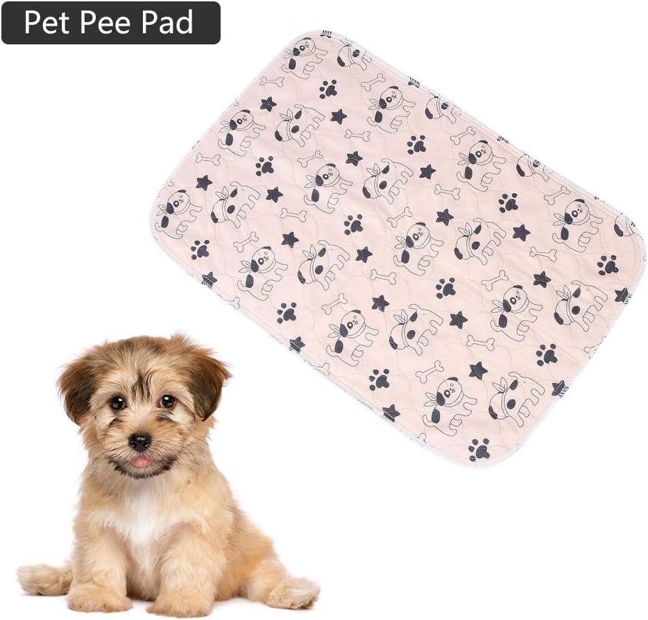 40 * 60cm Oumefar 3 Misure Impermeabile Pad pip/ì per Cani Simpatici assorbenti assorbenti per Cuccioli Tappetino per urina Antiscivolo per Cani addestramento Viaggi Parto