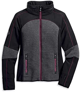 Harley-Davidson Women's Mixed Media Textured Colorblocked...
