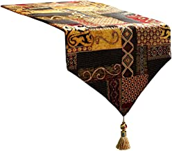 Artbisons Table Runner 60x13 Cotton Linen Kitchen Dining Table Topper Luxury Gold Illusion