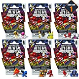 Power Rangers Micro Morphers Figures Blind Bags Party Favors Set ~ Bundle Pack of 6 Power Rangers Mystery Bags, Series 1 (Power Rangers Party Supplies)