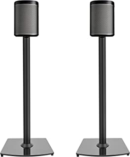 PERLESMITH Sonos Speaker Stands- for Sonos One, One SL, Play:1, Play:3 Bookshelf Speaker-Heavy Duty Floor Stands with Cable Management-1 Pair