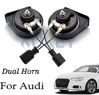 AUTOXBERT Snail Horn 12V 110-125db Waterproof High Low Pitch Loud Auto Horns Fits for Audi A3 A4 A5 A6 A7 A8 Q2 Q3 Q5 Q7 S4 S5 S6 S7 S8 TT R8