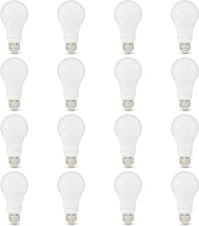 AmazonBasics 100W Equivalent, Daylight, Non-Dimmable, 10,000 Hour Lifetime, A19 LED Light Bulb   16-Pack
