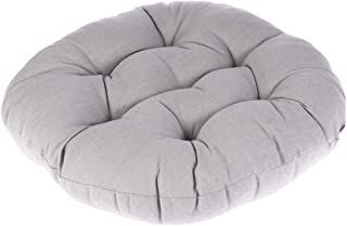 WINOMO Round Floor Pillow Cushion Cotton Linen Pouf Seat Cushion Yoga Window Tatami Home Office Pad(Gray)