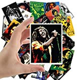 Large Stickers (24pcs 2.5'x3.5') BOB MARLEY Posters Photos Vintage Magazine covers Blues Music