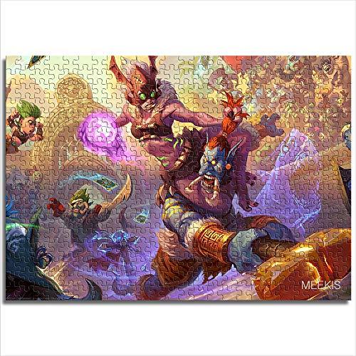 yuhho Jigsaw Puzzle 1000 Hearthstone Das Rumpeln von Rastakhan GamePuzzle Game Toy Game Stress abbauen 38x52