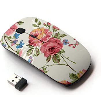 Graphic4You Music Note Ergonomic Wireless Mouse with Nano Receiver