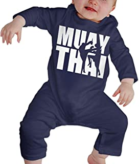 Dee O.STORE Toddler Baby Girls Boys Bodysuits Coverall Jumpsuit Muay Thai Long Sleeve Pajamas Sleeper