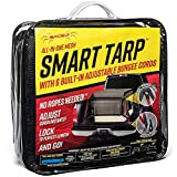 """Spider-Mesh Smart Tarp - 7'8"""" x 10'6"""" Heavy Duty Cargo Net - Comes with 6 Adjustable Bungee Cords - for Long Bed Bed Trucks (92"""" x 126"""")"""