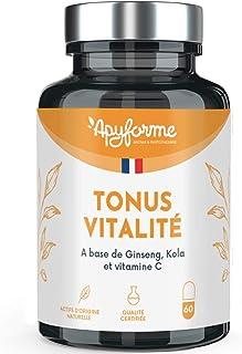 Apyforme - Vitality tonus - Suplemento alimenticio multivitamínico - Ginseng. colza y vitamina C - Vitaminas 100% vegetales - Made in France
