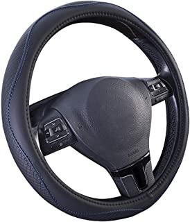 PIC AUTO PVC Leather Steering Wheel Cover 15inches Blue PIC AUTO