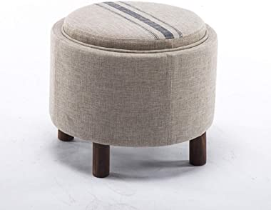 Storage Chair Solid Wood Storage Seat Material Multi-Color Optional 49×49×42cm WSWQWL (Color : C)