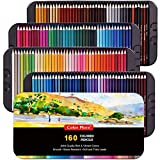 160 Colored Pencils,Artist Pencils Set for Coloring Books,Ideal for Coloring and Drawing,Shading&Sketching,Coloring Pencils for Beginners& Pro Artists in Tin Box,Art Supplies,Drawing Pencils