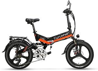 Excy XF590 20インチ折り畳み自転車 アシスト自転車 48V 10Ah 500Wモーター 防水ライト付き ミラー付き 公道走行可能 日本向け防犯登録可能自転車 通勤通学用