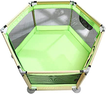 LOVE BABY Lovebaby Playpen Children s Play Fence 6-Panel Baby Outdoor Safety Indoor Portable Play Yard for Infants Toddler  Color optional   Color Green