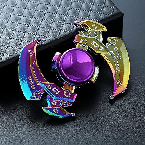 GRH Jouet de Mise au Point à Haute Vitesse en Alliage de Zinc coloré Fidget Spinner décompression Petit Jouet pour Jouets gyroscopiques R188 roulement en métal Arc-en-Ciel Spinner à la Main Adultes