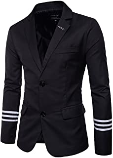 Men's Causal Blazer Lapel Two Buttons Business Slim Fit Solid Sport Jacket