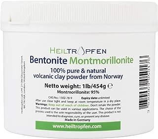 Bentonita Montmorillonita en polvo, 1lb-454 g, ULTRA FINA, contenido de montmorillonita: 95%, polvo mineral natural.