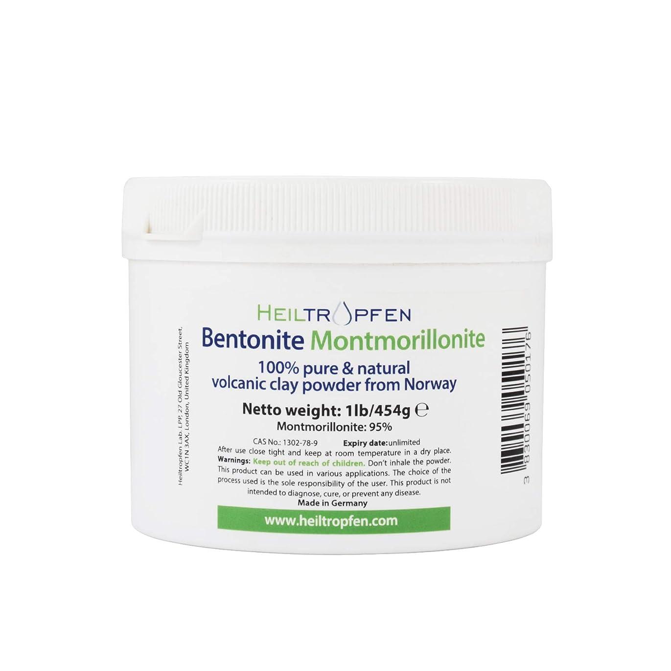 荒れ地ヘビー花婿ベントナイトモンモリロナイトパウダー、1lb-454g、ウルトラファイン、モンモリロナイト含有量:95%、天然ミネラルダスト。bentonite