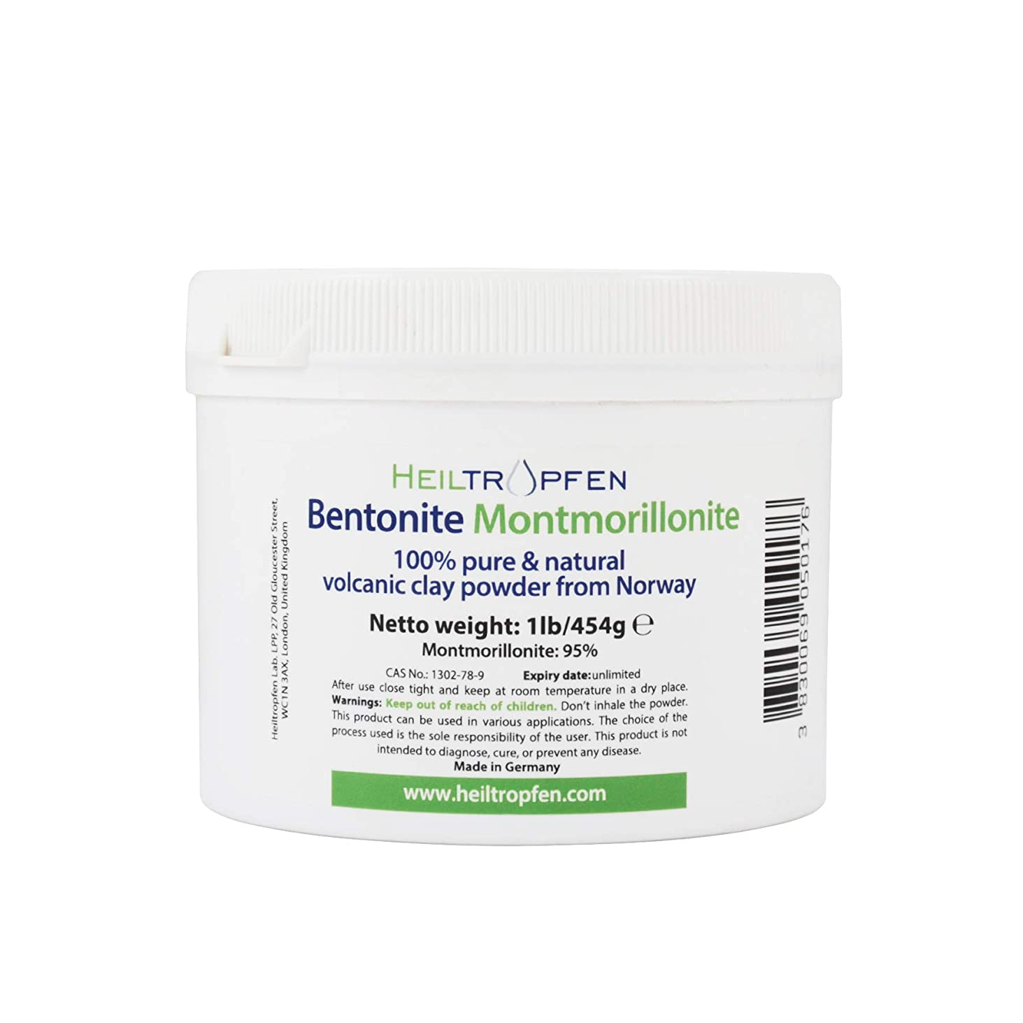 人気のシリングすべてベントナイトモンモリロナイトパウダー、1lb-454g、ウルトラファイン、モンモリロナイト含有量:95%、天然ミネラルダスト。bentonite