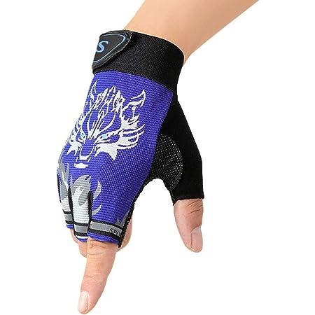 Outdoor Kinderhalbfinger Fahrradhandschuhe Atmungsaktiv Rutschfeste Handschuhe