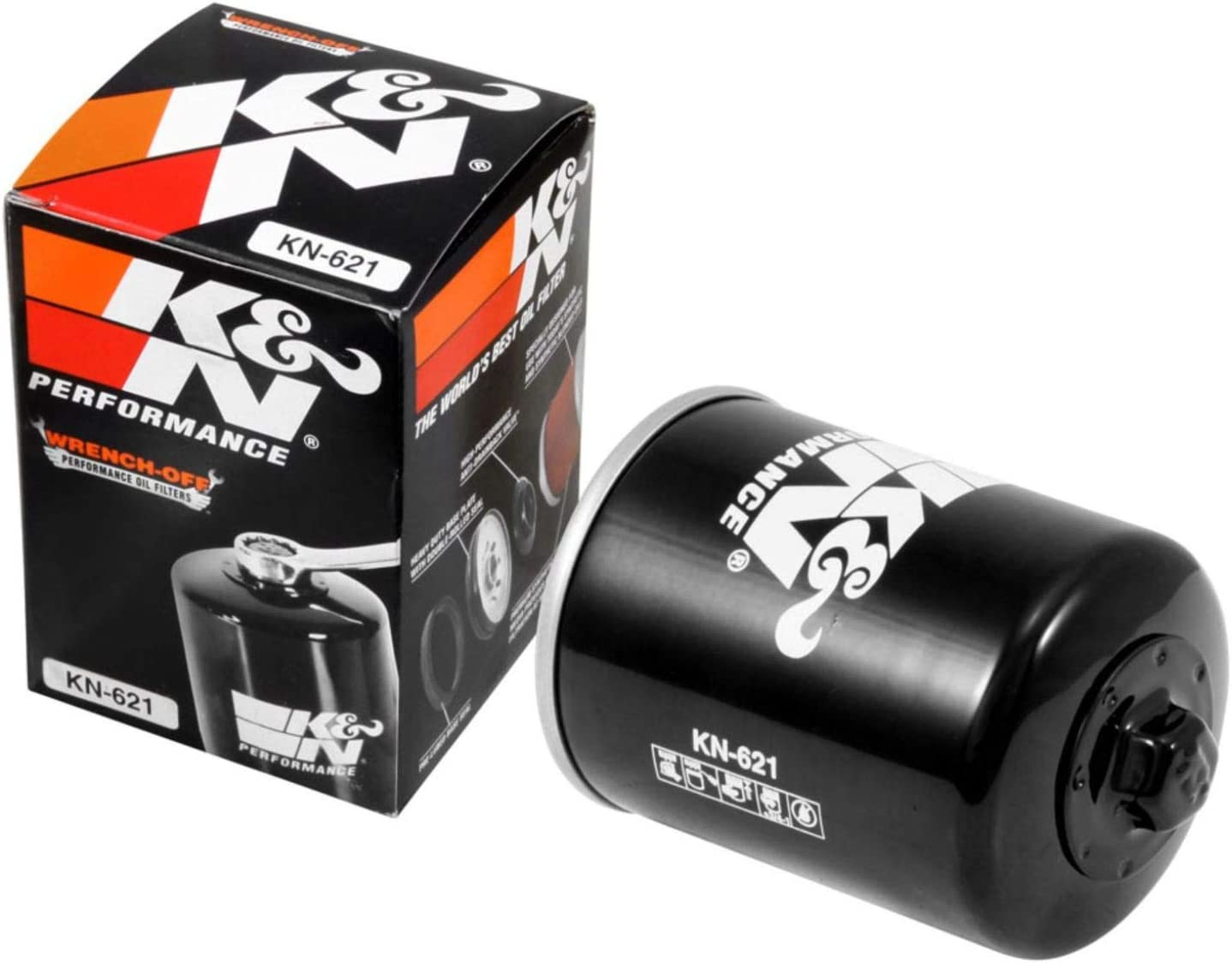 K&N Motorcycle Oil Filter: High Performance, Premium, Designed to be used with Synthetic or Conventional Oils: Fits Select Artic Cat Vehicles, KN-621